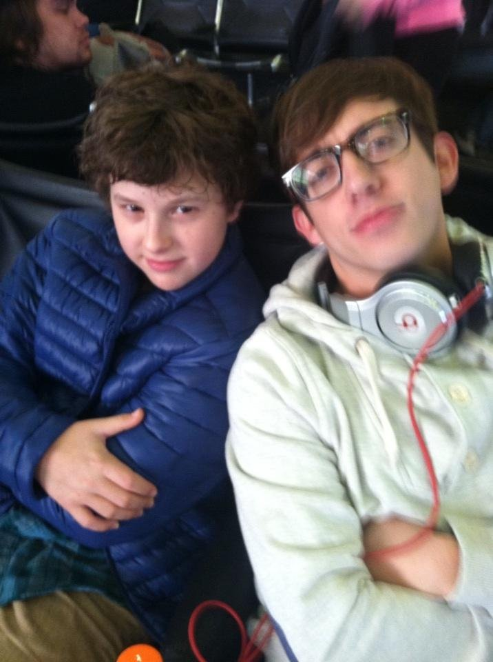 Nolan Gould ran into Kevin McHale at the airport. Source: Twitter user Nolan_Gould