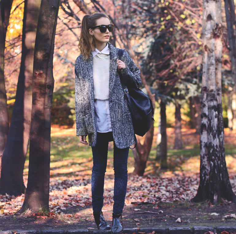 Varying textures and layers make up this standout style moment — but the background doesn't hurt either. Source: Lookbook.nu