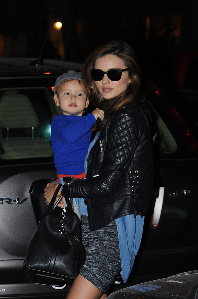Miranda Kerr continued to incite envy when she stepped out (looking fantastic!) with son Flynn on November 18.