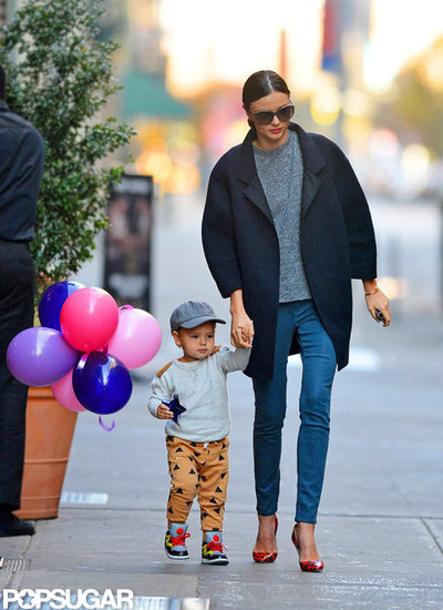 Miranda Kerr and Flynn Bloom took a stroll in NYC.