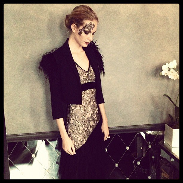Poppy Delevingne gave us her best Black Swan. Source: Instagram user poppydelevingne
