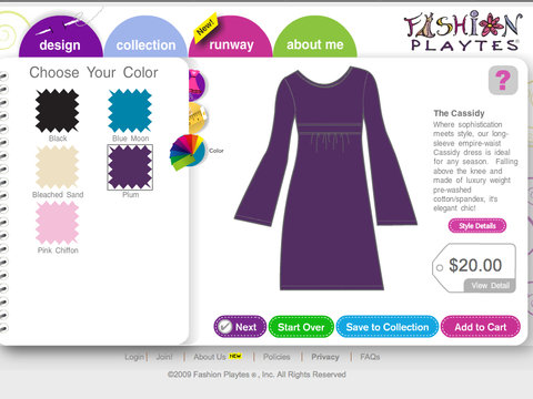 For 9-Year-Olds: Fashion Playtes Gift Card