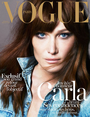 Carla Bruni Lands the December 2012 Cover of Vogue Paris