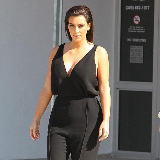 Kim Kardashian Wearing Black Jumpsuit