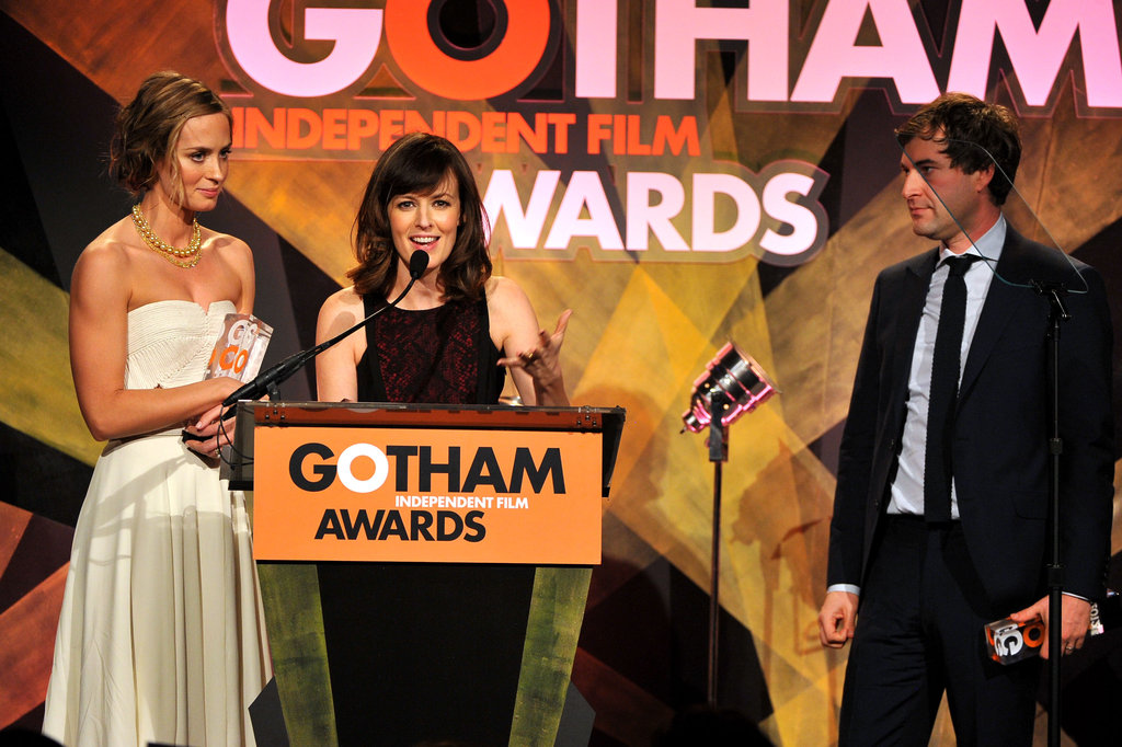 Emily Blunt, Rosemarie DeWitt, and Mark Duplass took the stage.