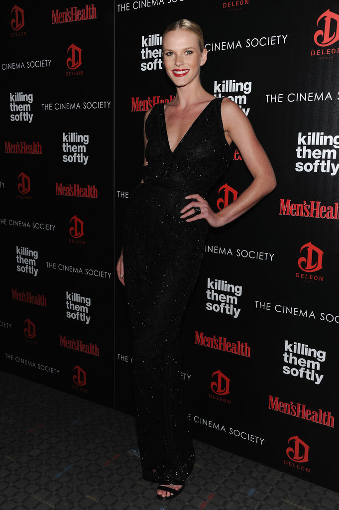 Anne V smiled for photos at the Killing Them Softly screening in NYC.
