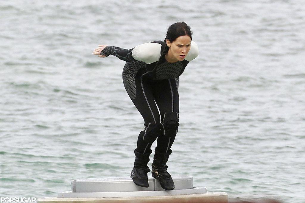 Jennifer Lawrence filmed for Catching Fire in Hawaii.