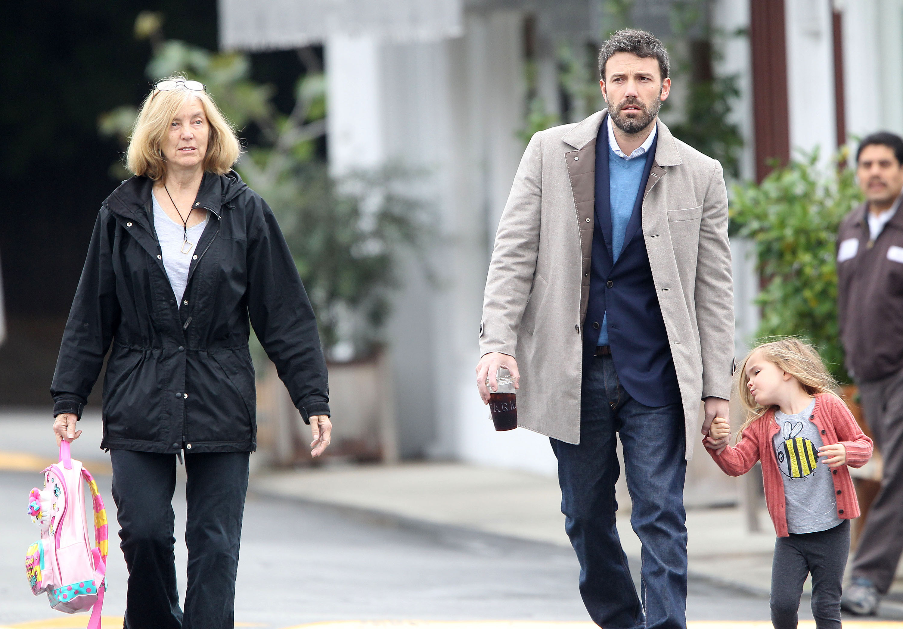 ben affleck and seraphina affleck joined his mother chris