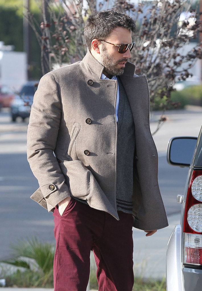 Ben Affleck wore sunglasses while out in LA.