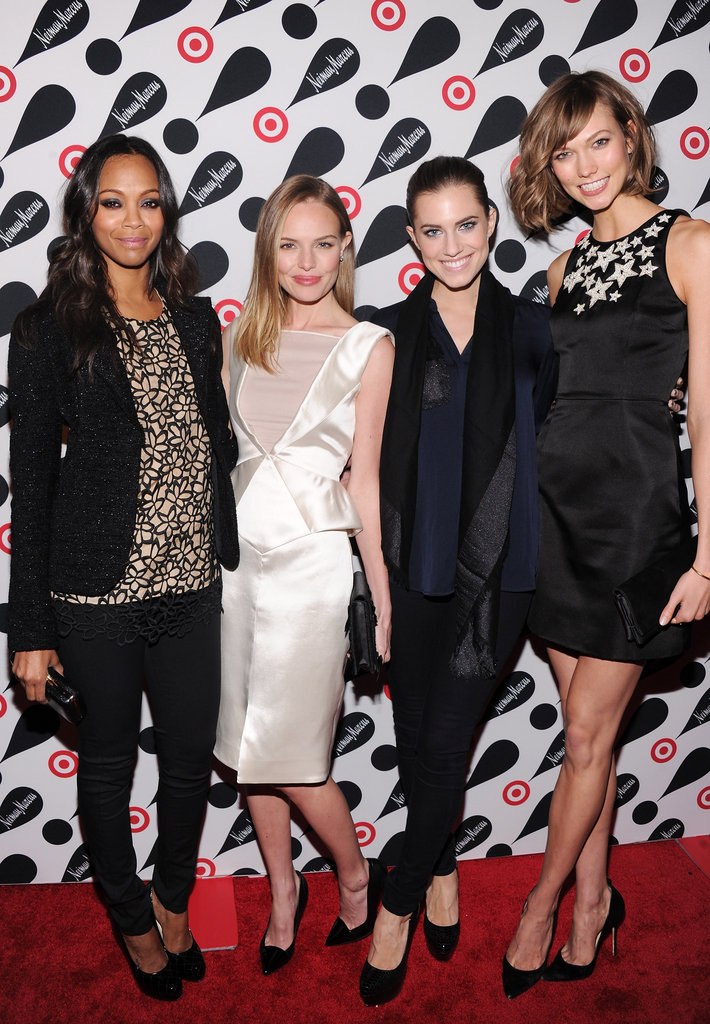 Zoe Saldana, Kate Bosworth, Allison Williams and Karlie Kloss linked up on the red carpet in NYC.