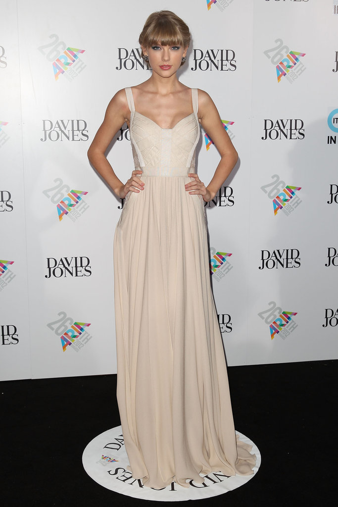 Taylor Swift wore Elie Saab for the Aria Awards in Sydney.