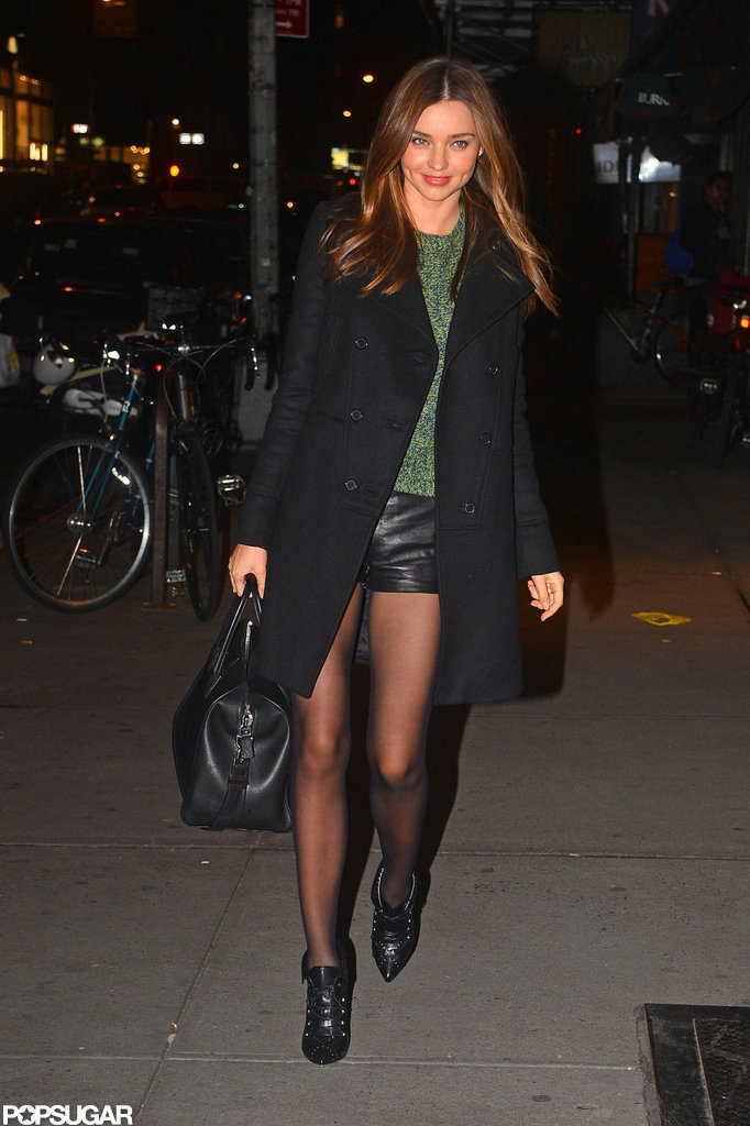 Miranda Kerr showed off her legs.
