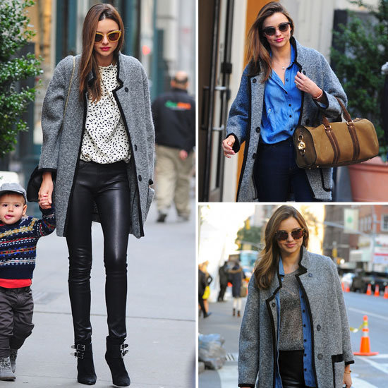 Miranda Kerr Loves Her Gray Isabel Marant Coat 2012