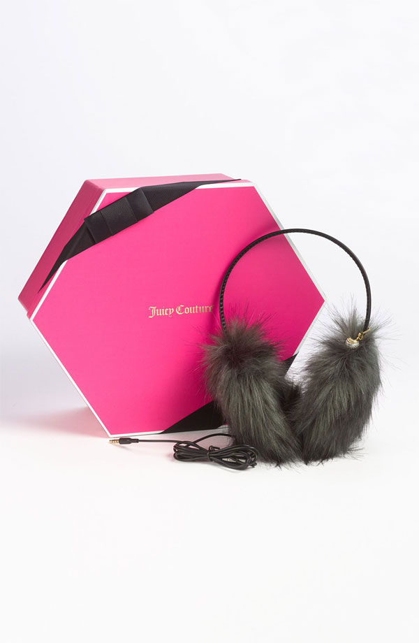 I'm in need of a new pair of headphones, but the NYC Winter chill makes it really difficult to keep my ears warm and listen to music. So, when I spotted these Juicy Couture faux fur earmuffs ($98) that combine functionality with a luxe component and, oh yeah, a new set of headphones, I knew this was an accessory match made in heaven. — Marisa Tom, associate editor