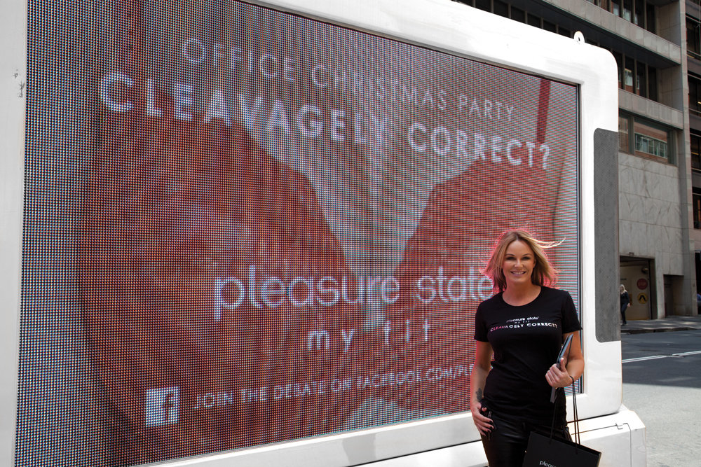 Charlotte Dawson gave her support to Pleasure State's 'What Is Cleavagely Correct?' campaign to help women find out which cleavage is appropriate for events.