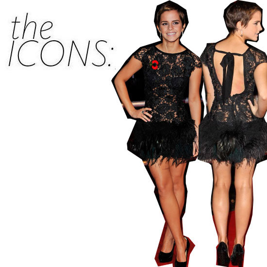 The Icon Kit: Emma Watson's Fun, Feathered Look