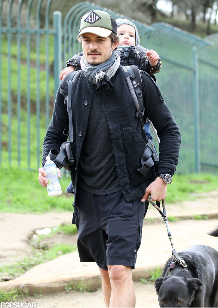 Orlando Bloom Takes Flynn For a Daddy-and-Me Hike