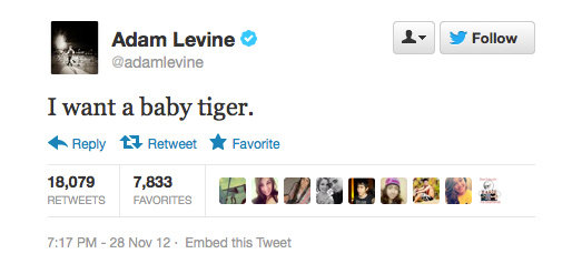We want one too! Adam Levine makes a totally reasonable demand.