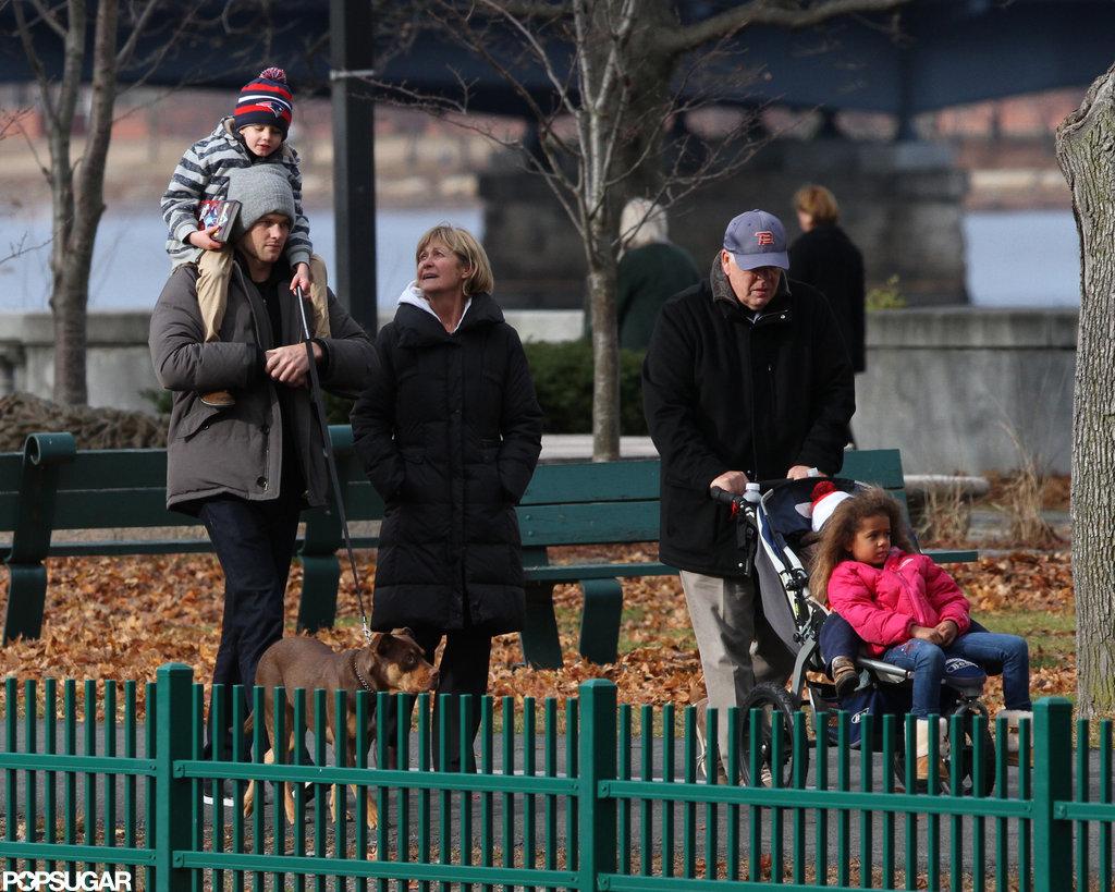 Tom Brady Takes His Boys to the Park Following Baby Vivian's Birth