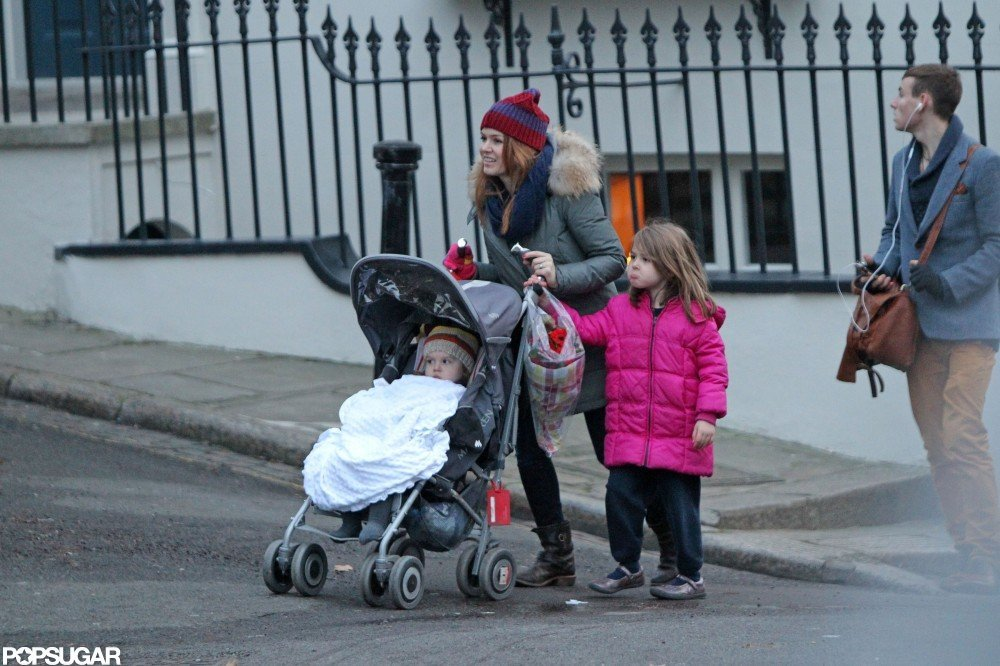 Isla Fisher took her daughters out in London.