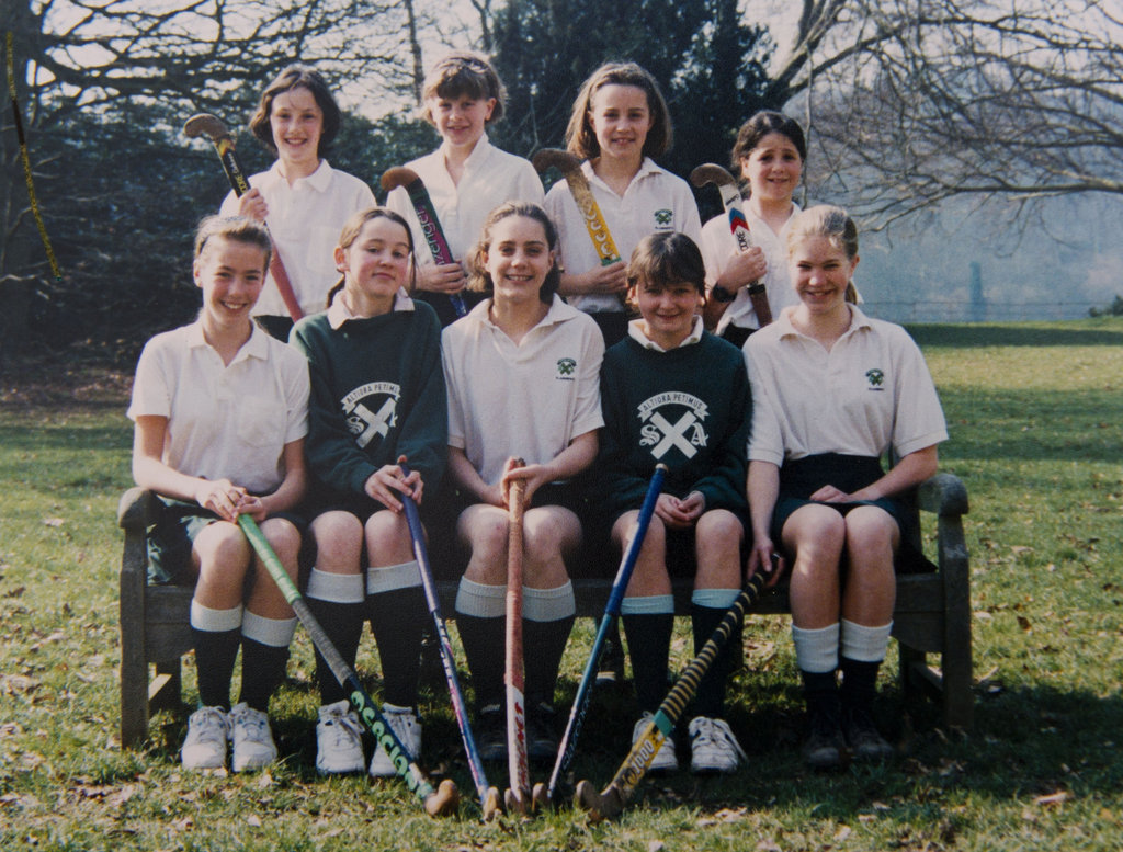 Kate Middleton, center front, was adorable as a young field hockey player in Pangbourne, England.