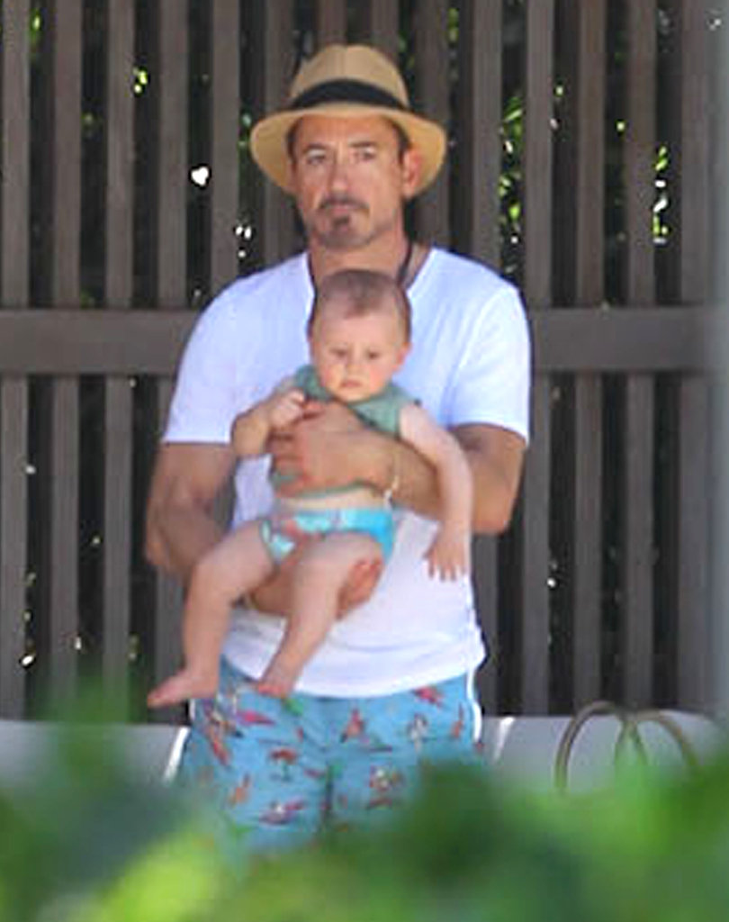 Robert Downey Jr. welcomed son Exton with his wife, Susan, in February.