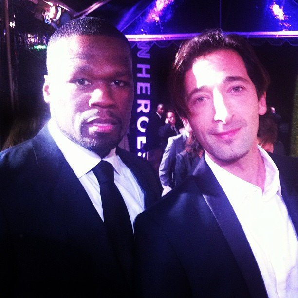 50 Cent and Adrien Brody hung out together at the CNN Heroes event. Source: Instagram user 50cent