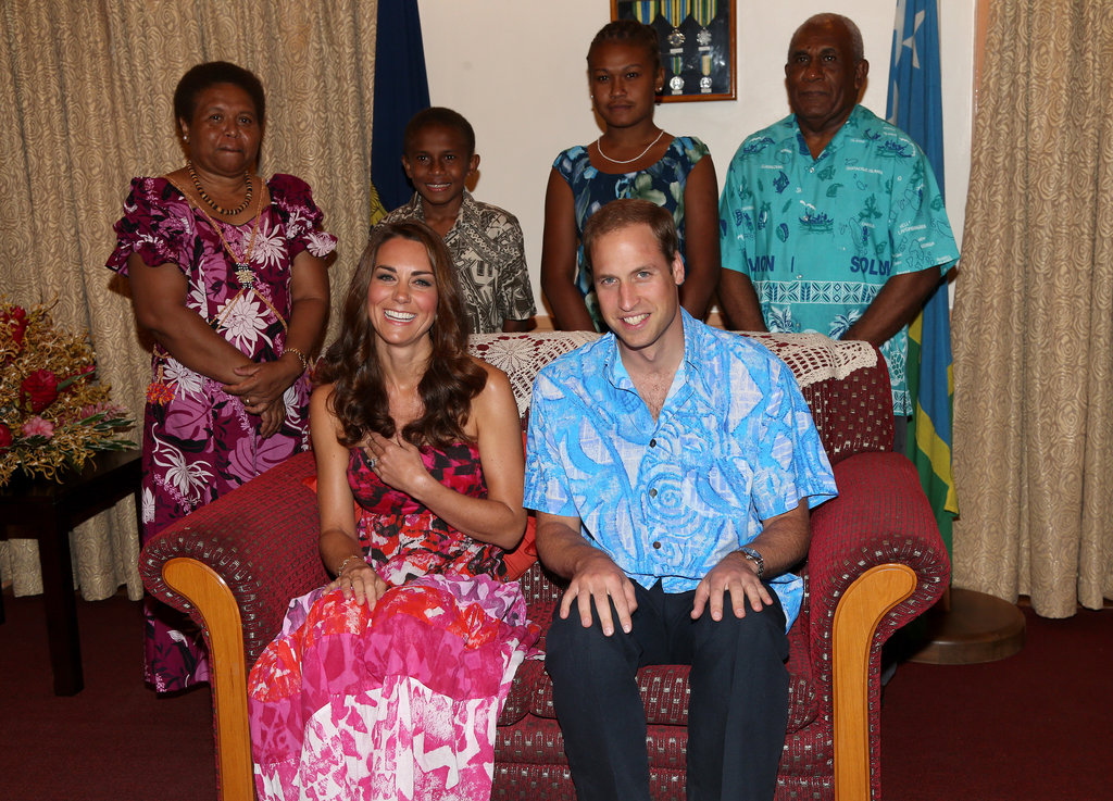 Kate Middleton and Prince William wore traditional gear while visiting Guadalcanal Island in September 2012.