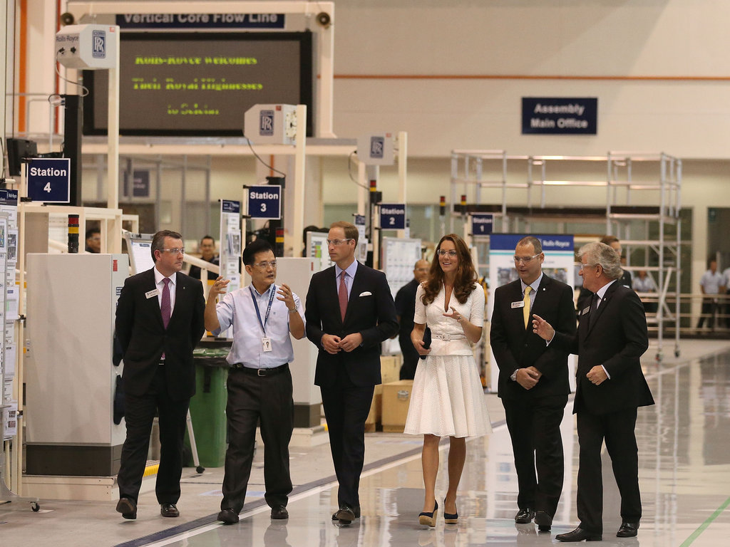 Prince William and Kate Middleton toured Singapore's Rolls-Royce Seletar Campus during their Diamond Jubilee tour in September.