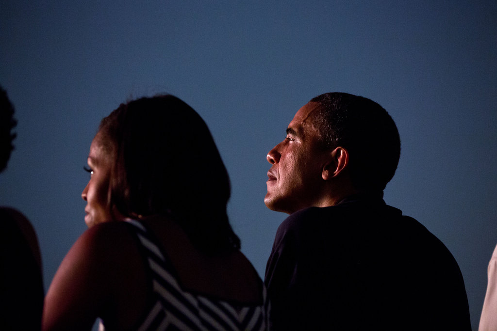 Barack and Michelle watched Fourth of July fireworks from the White House roof together.