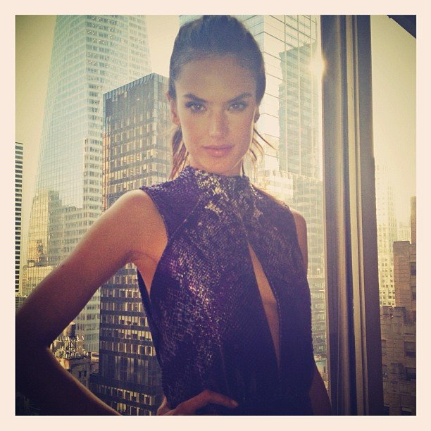 Alessandra Ambrosio struck a pose for the camera. Source: Instagram user alecambrosio