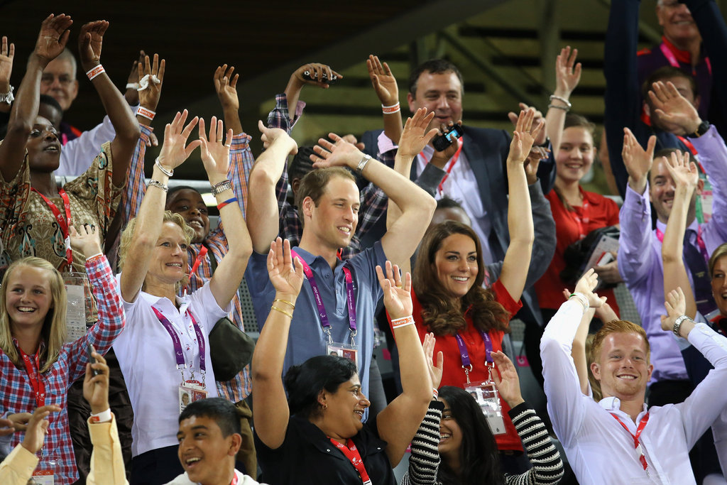 William and Kate did the Mexican Wave during a cycling event at the 2012 London Olympics.