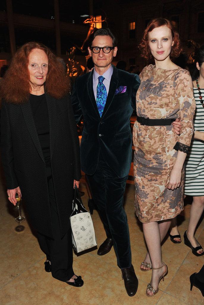Grace Coddington, Hamish Bowles, and Karen Elson