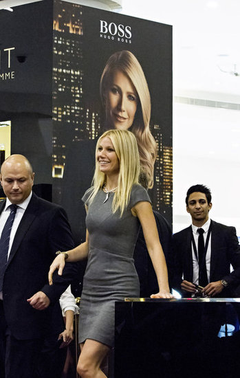 Gwyneth Paltrow promoted Hugo Boss at the Paris Gallery in Dubai.