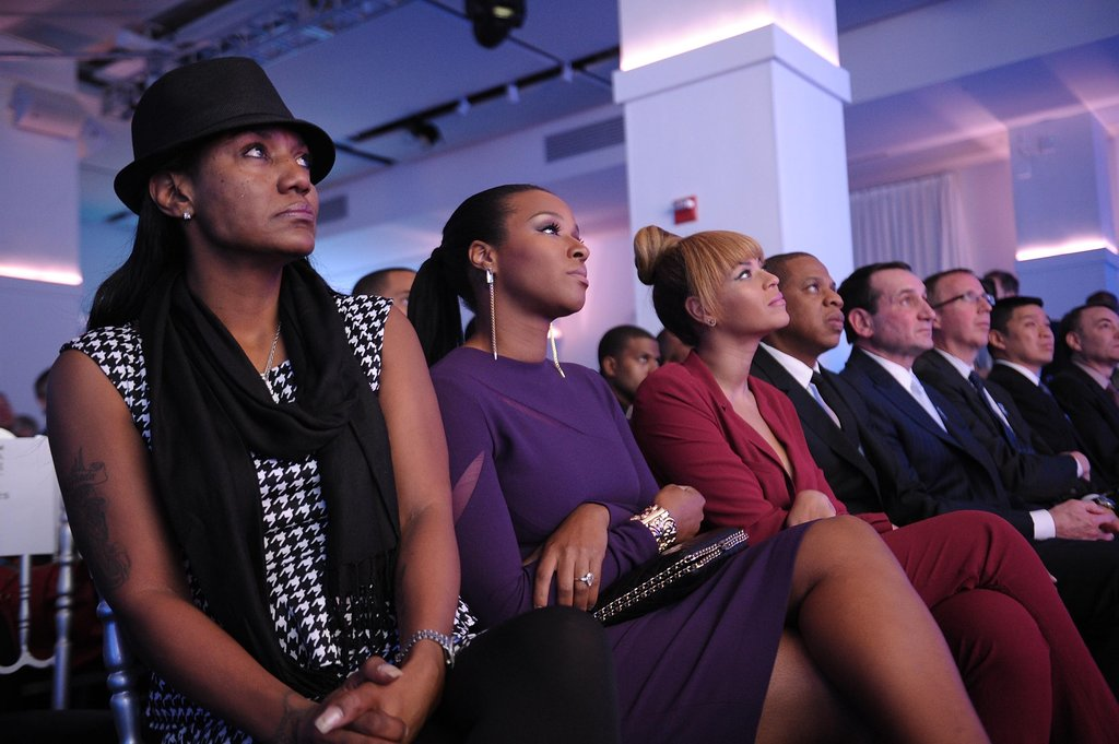 Beyonce Knowles sat with Jay Z and Savannah Brinson at the NYC awards.