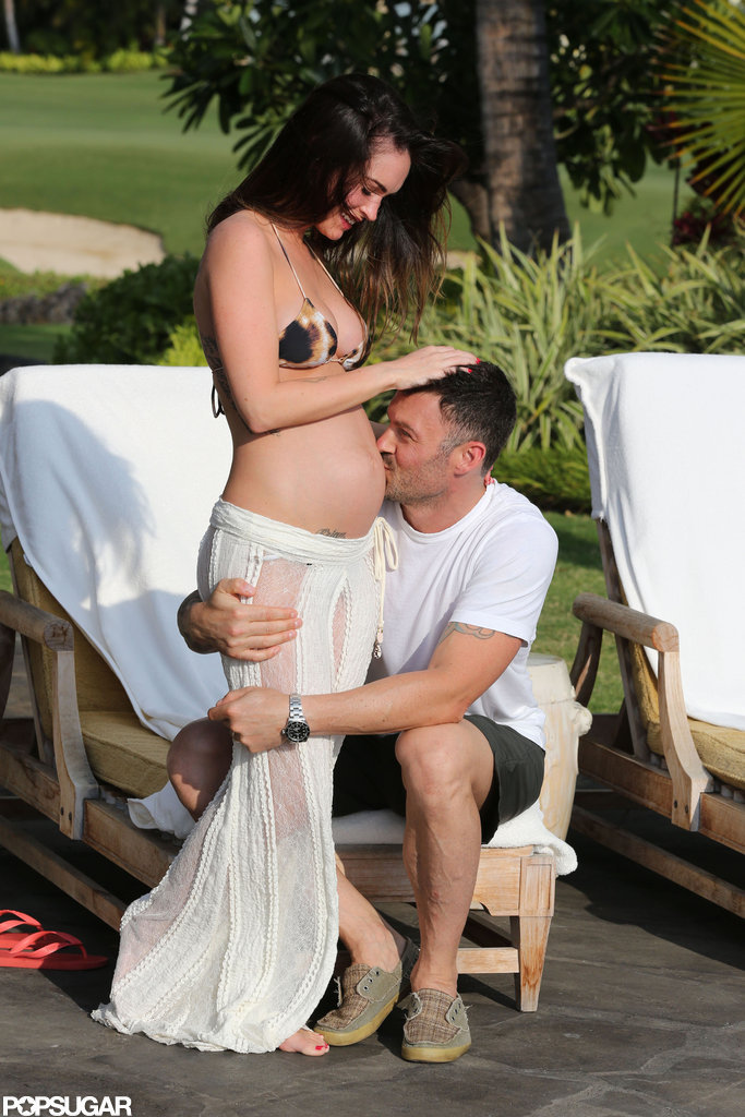 It was the pregnancy confirmation heard round the world. Megan Fox and Brian Austin Green went public with her baby bump in the biggest way possible — with her on vacation, in a bikini!  — Allie Merriam, editor