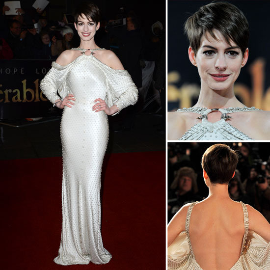 Anne Hathaway at Les Miserables Premiere in London