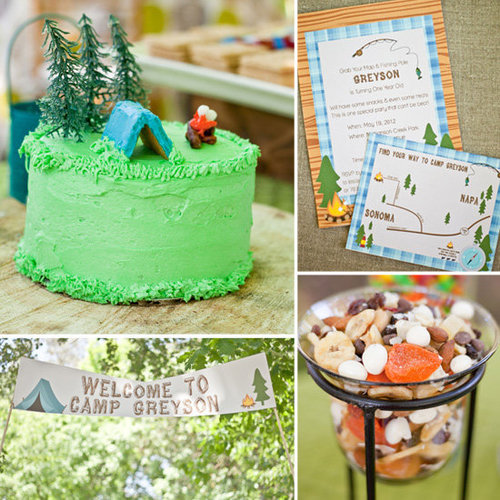 Birthday Parties: A Cute, Camping-Inspired First Birthday Party
