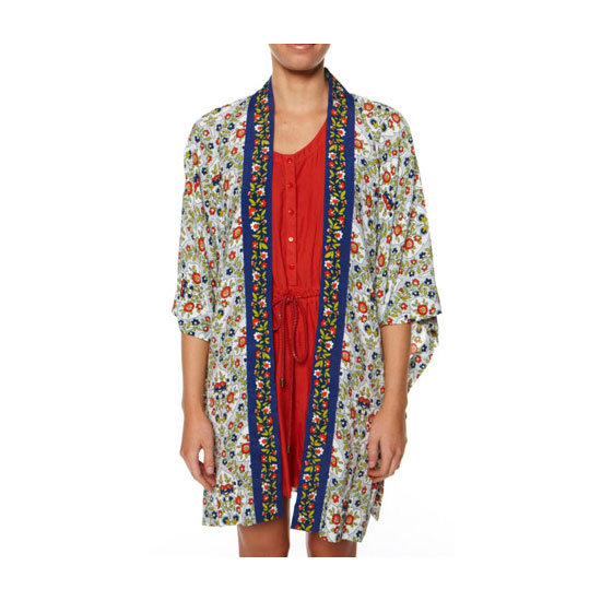 I love the idea of wearing this open over my cossie, then crossing over, belting. and adding lace-up sandals for a post-dip bite — Ali, FabSugar editor Kimono, $169.95, Tigerlily