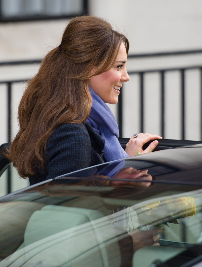 Kate Middleton smiled in London.