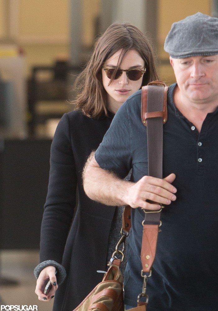 Keira Knightley Makes a Stylish Landing at LAX
