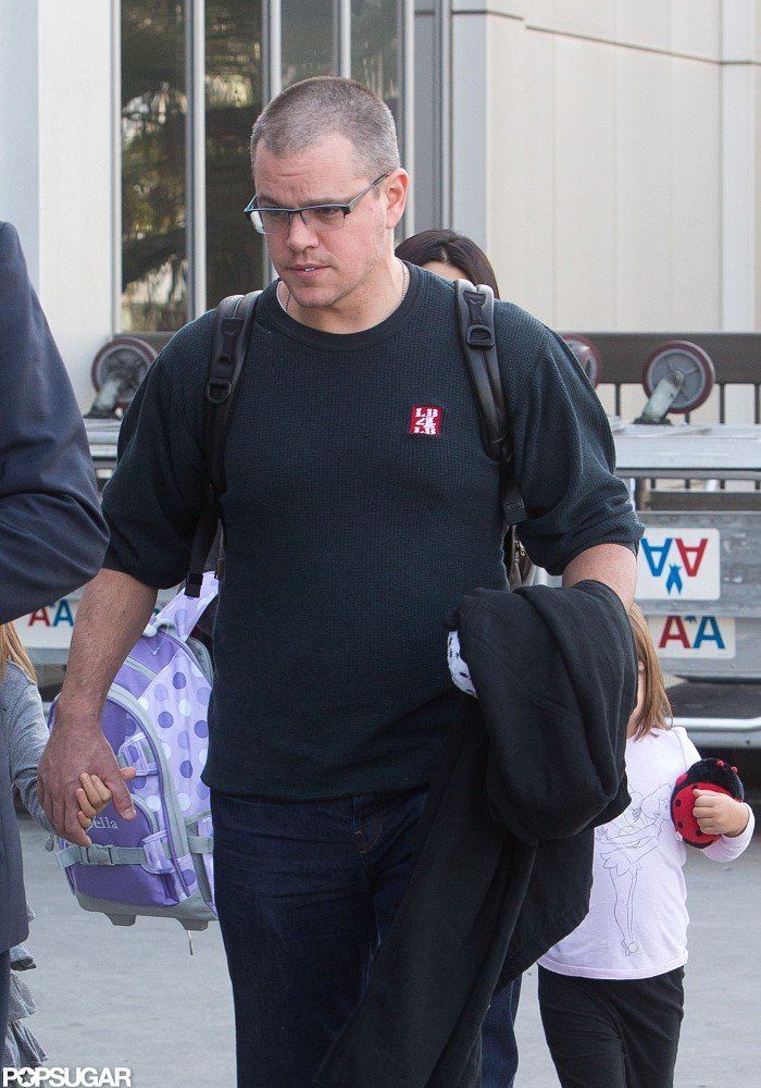 Matt Damon was out in LA.