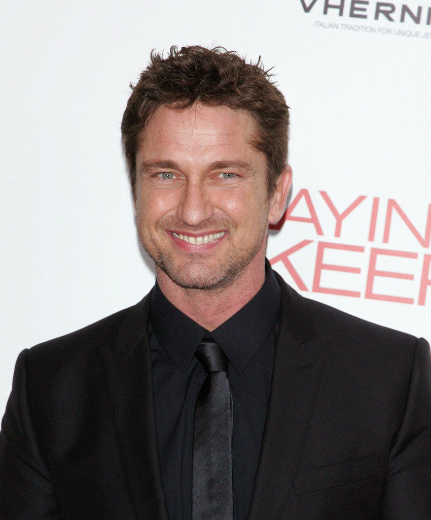 Gerard Butler smiled at the Playing For Keeps premiere in NYC.
