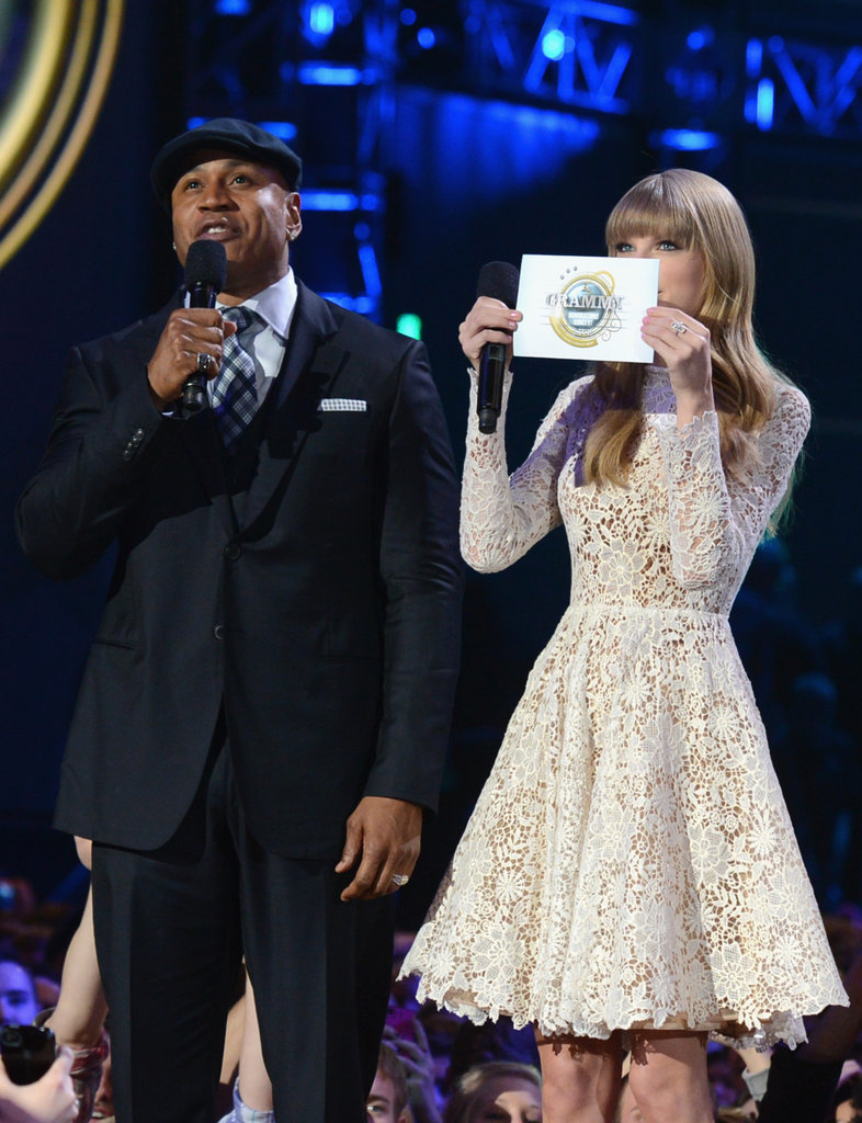 LL Cool J and Taylor Swift were on stage at the Grammy Nominations.