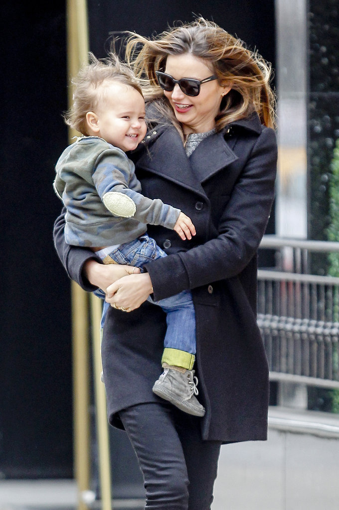 Miranda Kerr and son Flynn took the wind in their stride as they strolled around New York City on December 1.