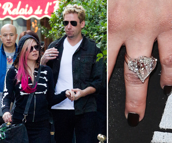 chad kroeger proposed to avril lavigne in august with a 14