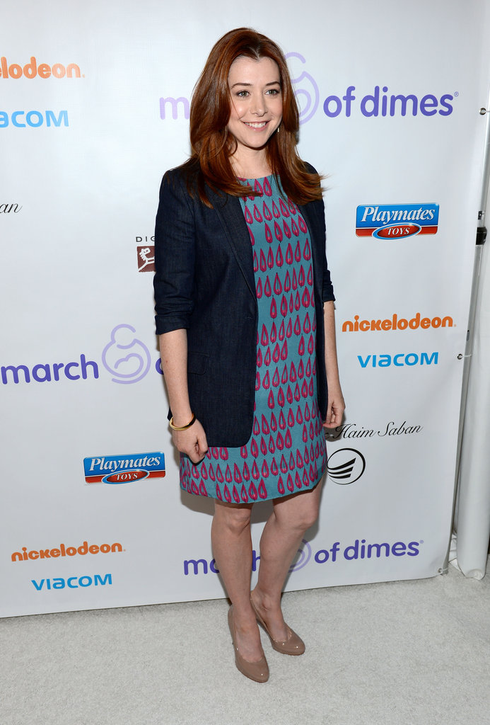 Alyson Hannigan smiled at a March of Dimes event.