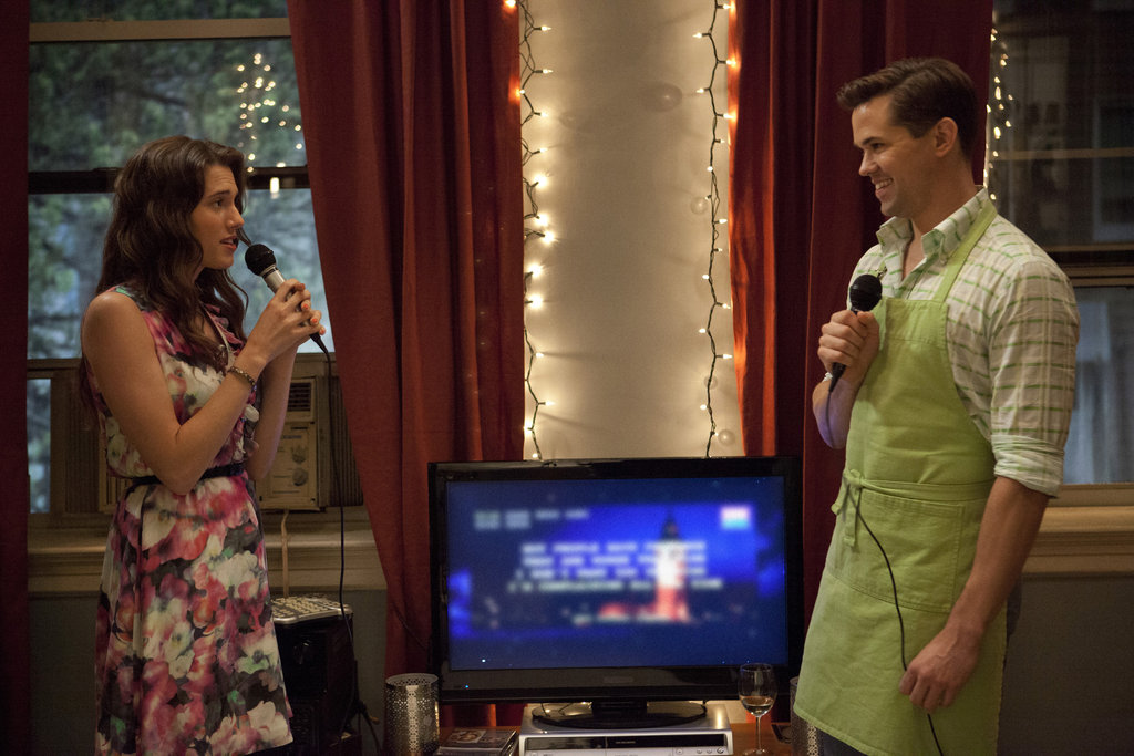 Allison Williams and guest star Andrew Rannells in Girls.