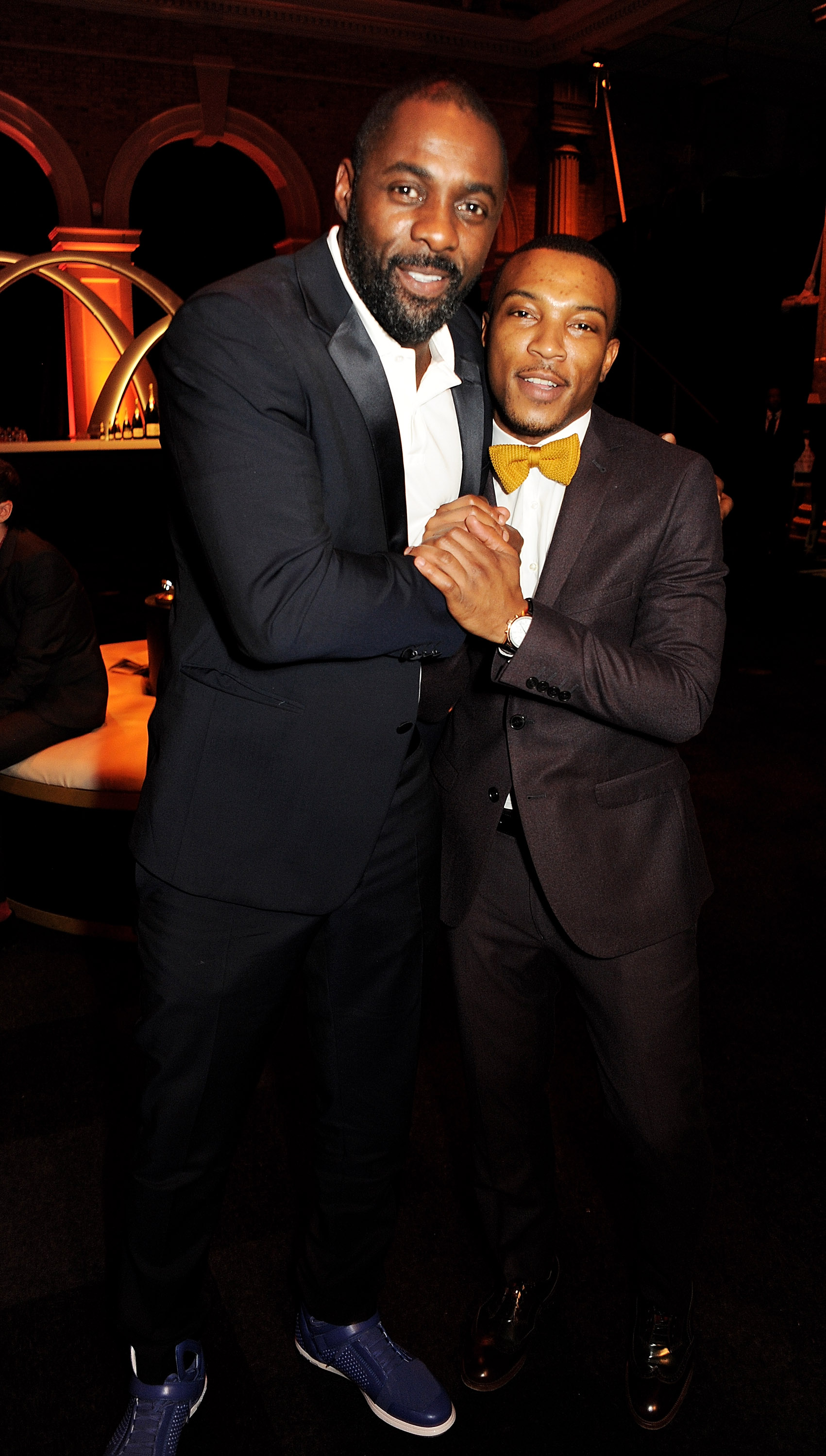Idris Elba and Ashley Walters posed together at the BIFAs.