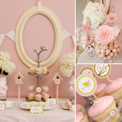 Baby Showers: Little Pink Birdies Baby Shower